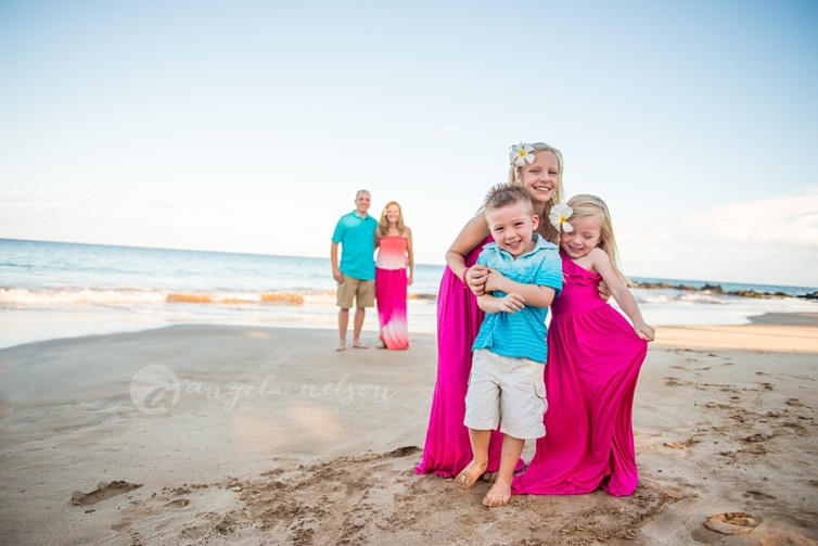 A Candid Maui Family Photography Session in Wailea: The C Family