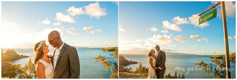 romantic wedding photos honolua bay maui