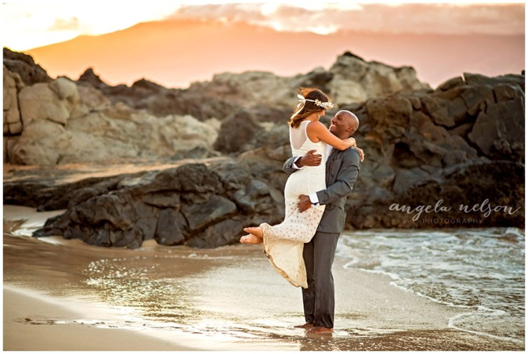Haley+Adam: Romantic Beach Wedding Photography Re-do in Kapalua, Maui