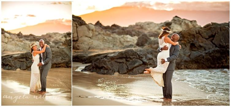 romantic wedding photos sunset maui_0010