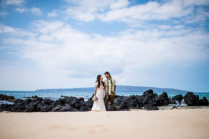 Ashley + Ikaika | Beautiful Maui Wedding at White Orchid Beach House