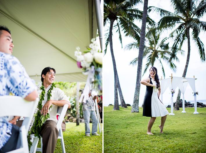 maui bridal hula performance for husband