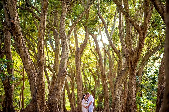 Angel + Ian | Maui Maternity Photography Session in the Jungle