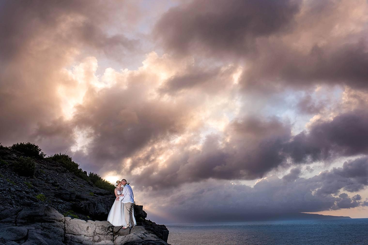 Jenn + Gary   Cliffside Wedding in Maui, Hawaii
