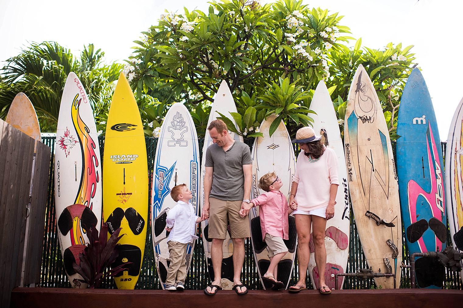Fun town and beach session in Paia, Maui | Maui Lifestyle Family Photographer