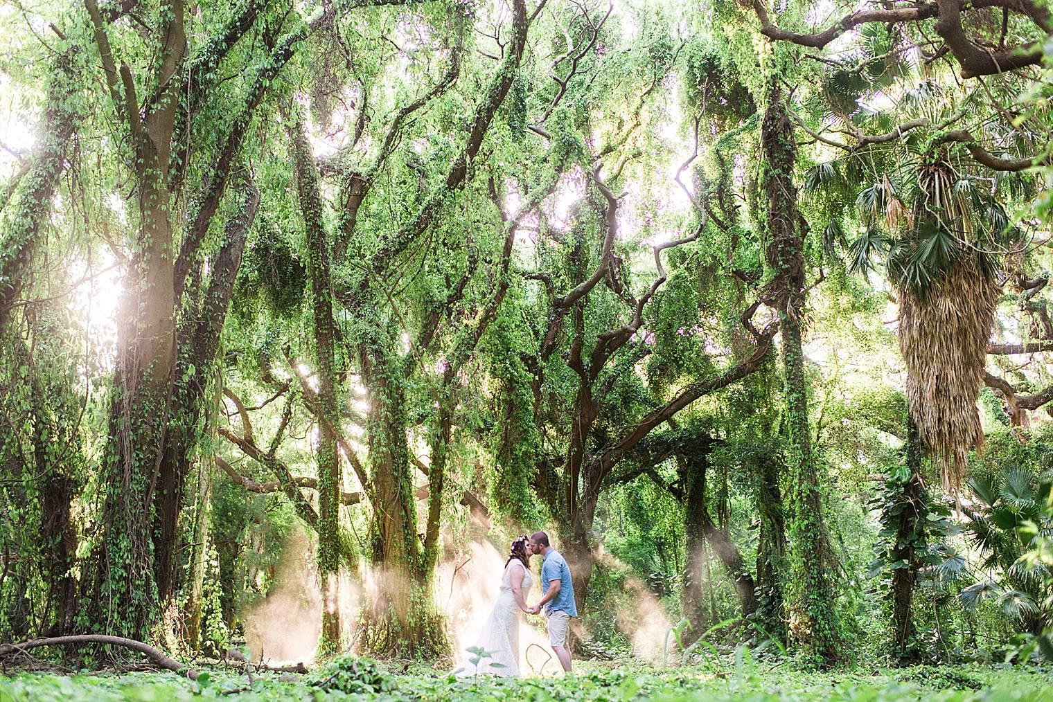 maui wedding in the jungle