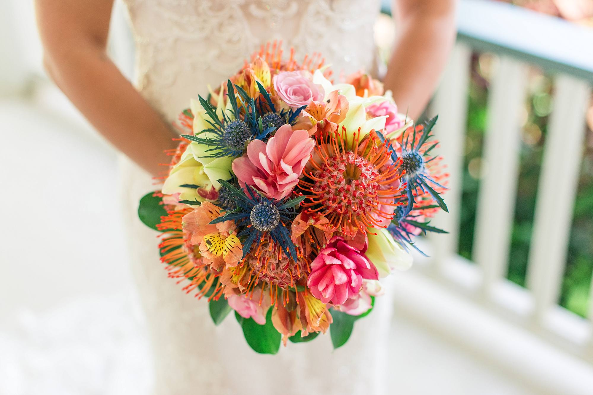 Tropical florals for wedding in maui