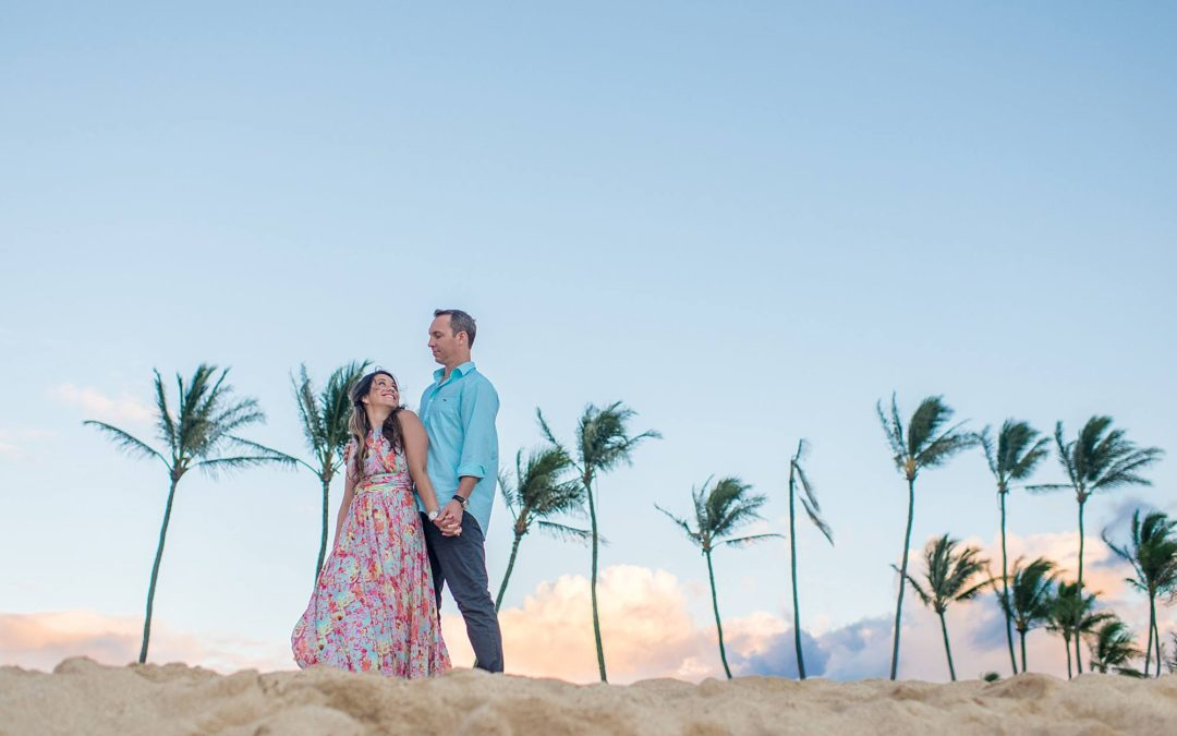 Romantic North Shore Maui Engagement Photography | Sara + Geoff
