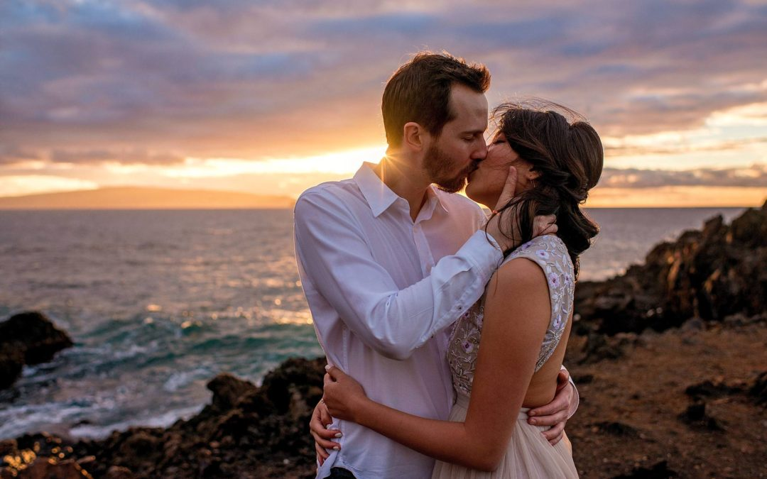 Lava Rocks and Sunset Engagement Session | Korey + DeChi