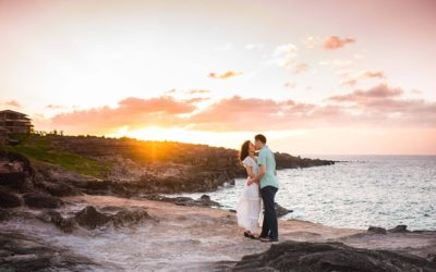 Maternity Photos at the Cliffs of Honolua | Kevin + Eunjin