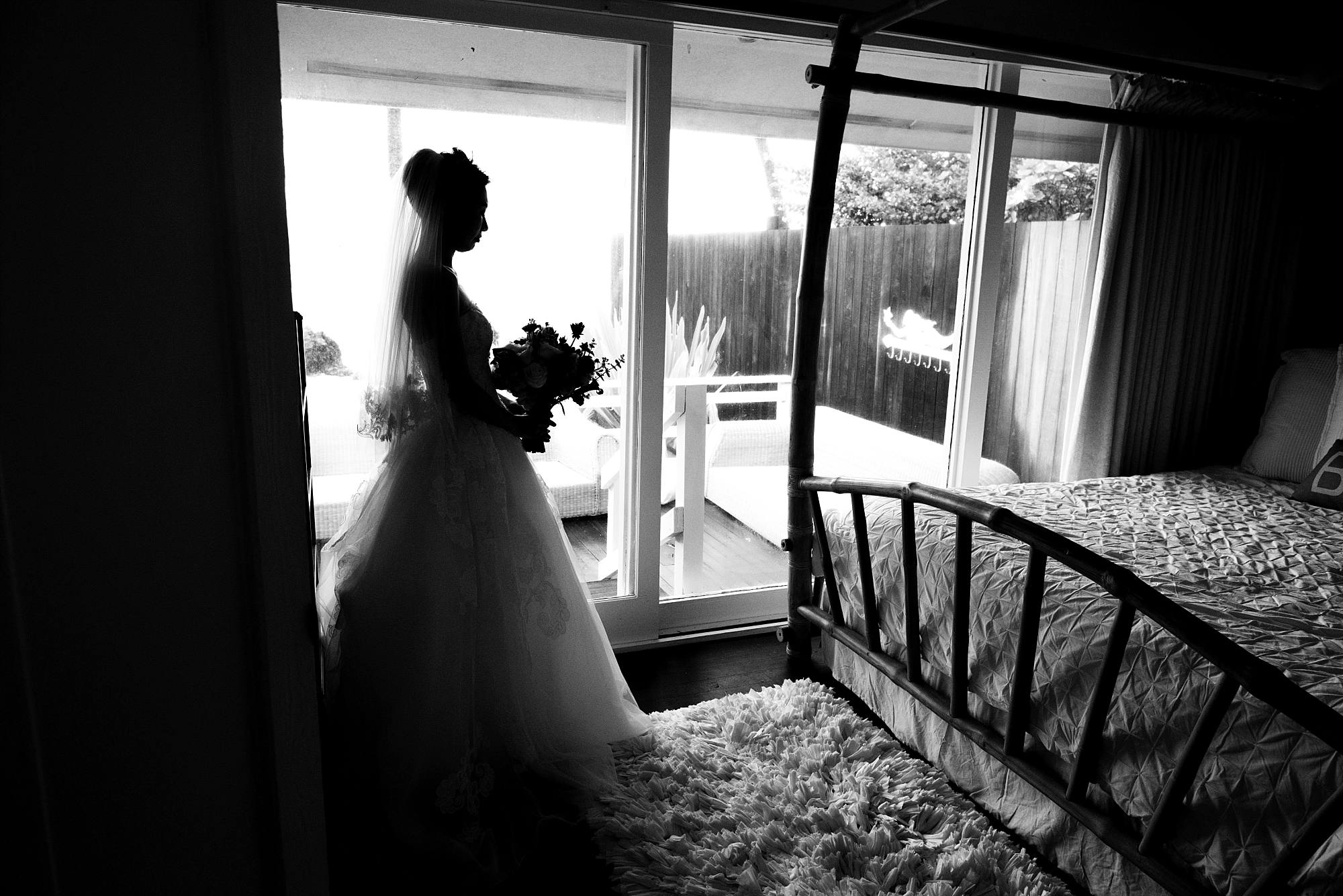 Rainy White Orchid Beach House Wedding_0005