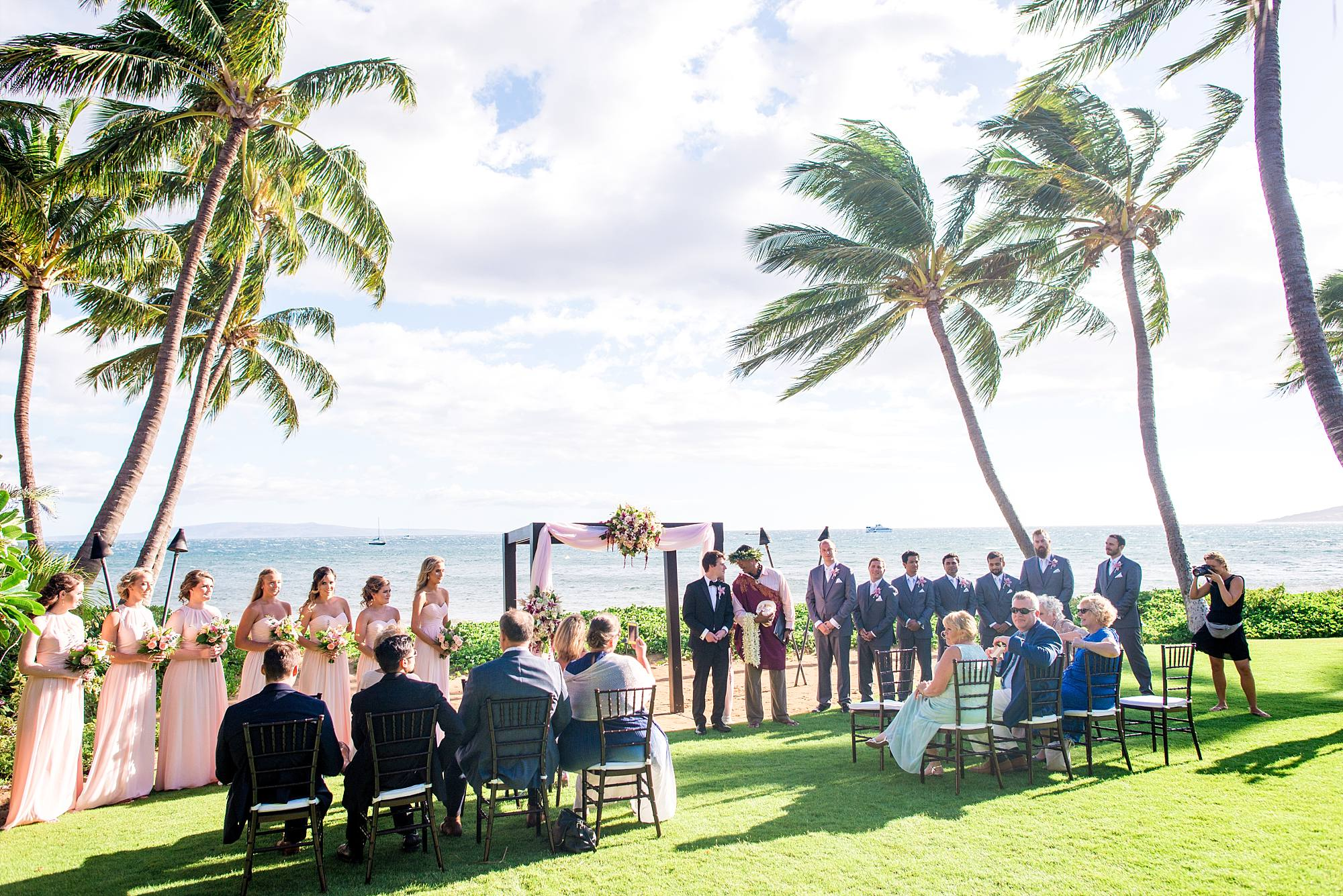 Tropical Hawaiian WEdding on Maui, ceremony shot