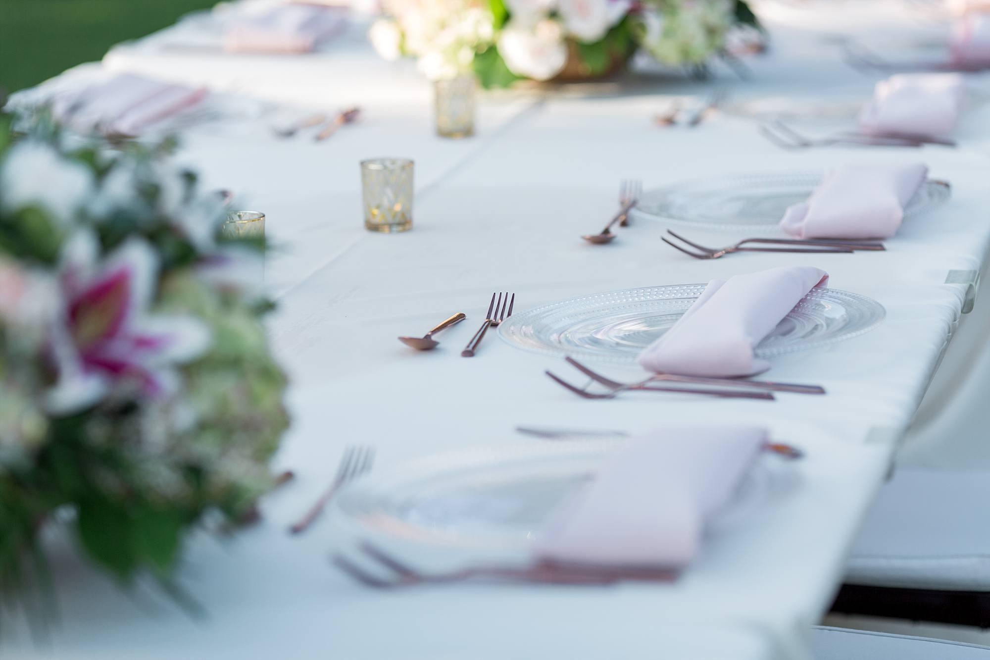 wedding farm table setting