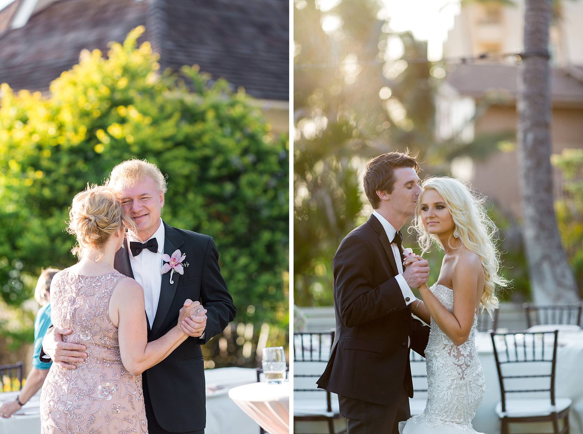 wedding couple's dance and their parents dance