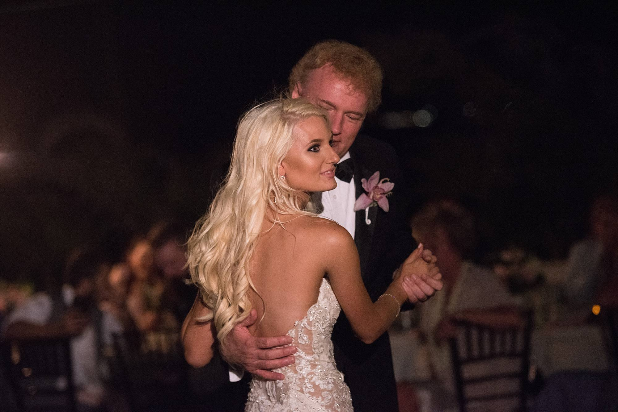 bride and her father dancing at her reception
