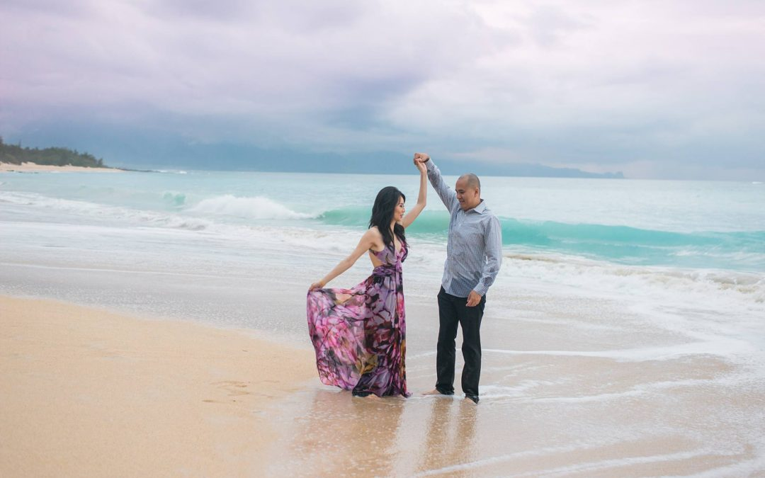 First Anniversary North Shore Maui Photo Shoot | Mary + Eric
