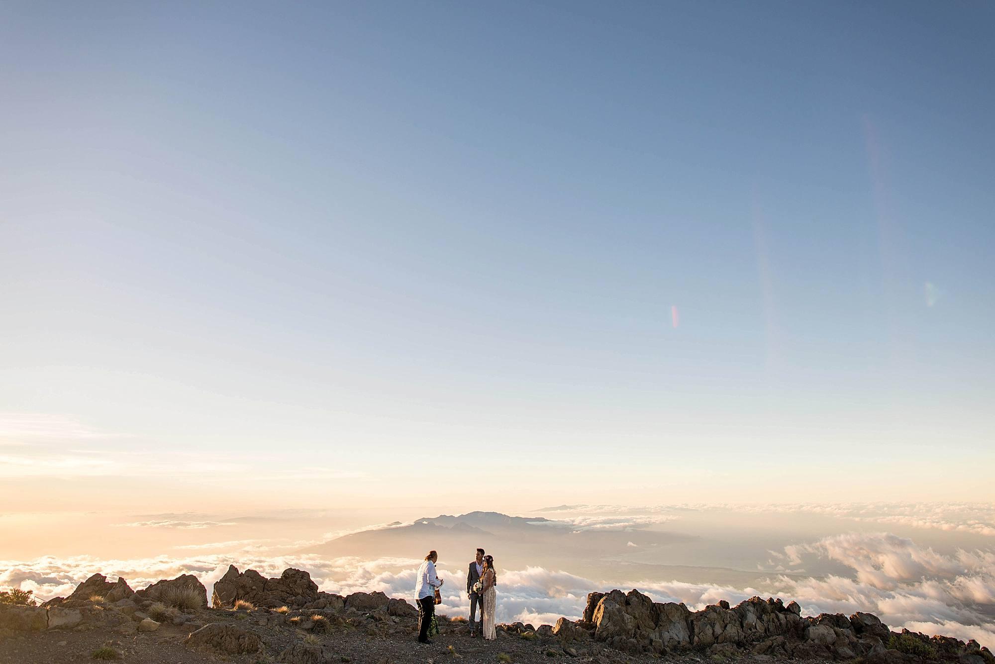 wedding on top of Haleakala