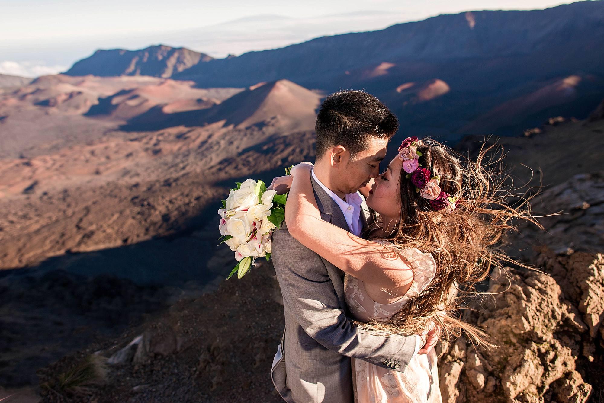 Haleakala national park wedding
