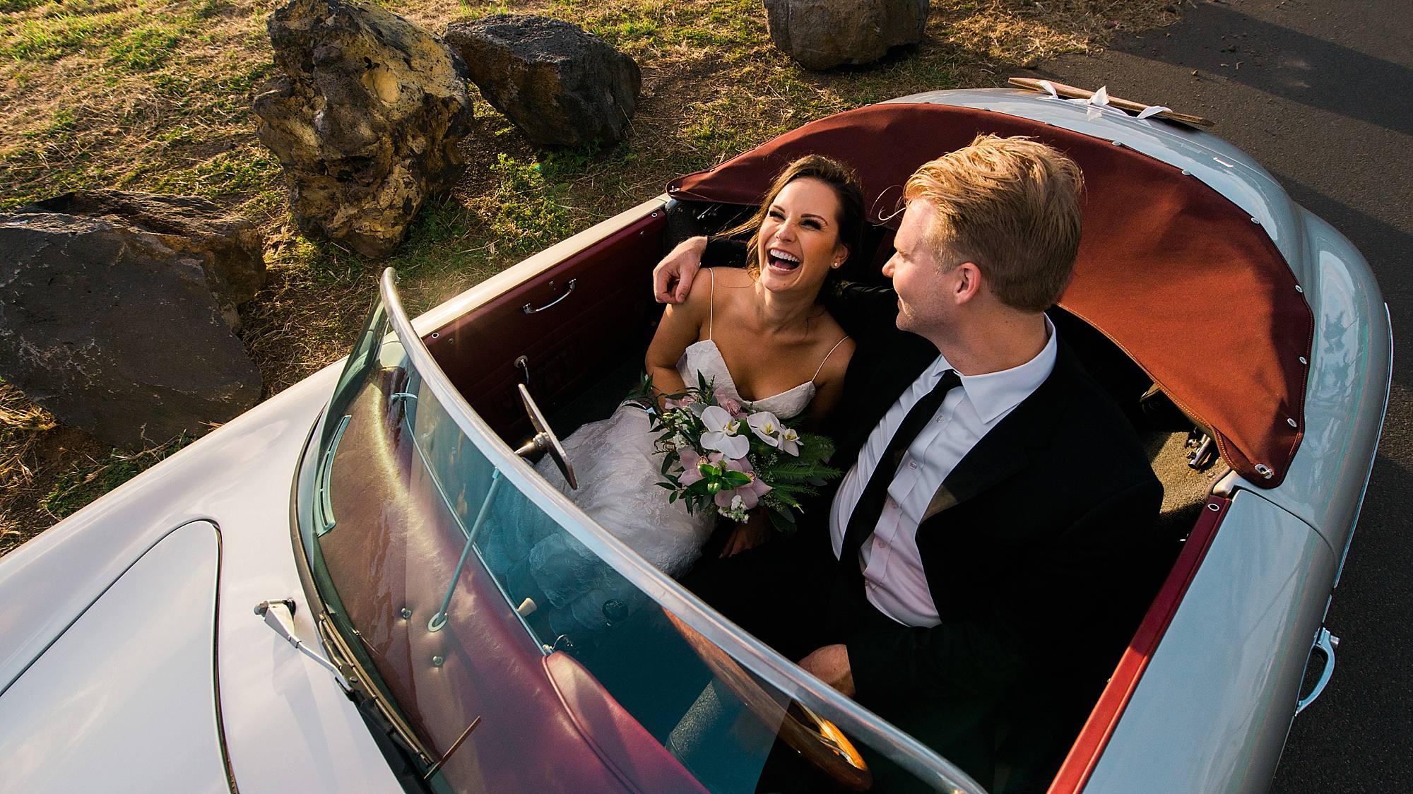 maui roadsters wedding in maui
