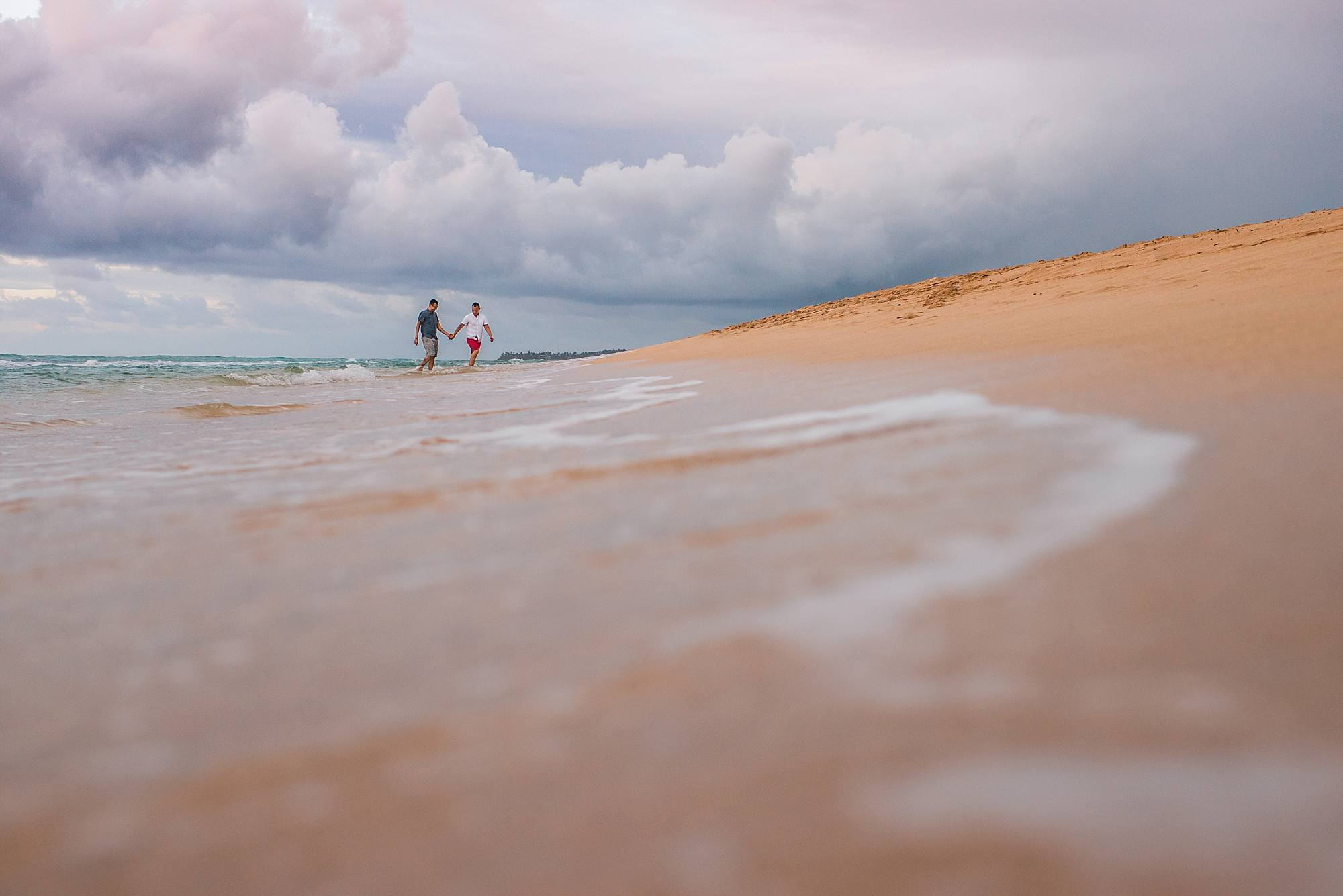 gay couple engagement photos in paia, hawaii