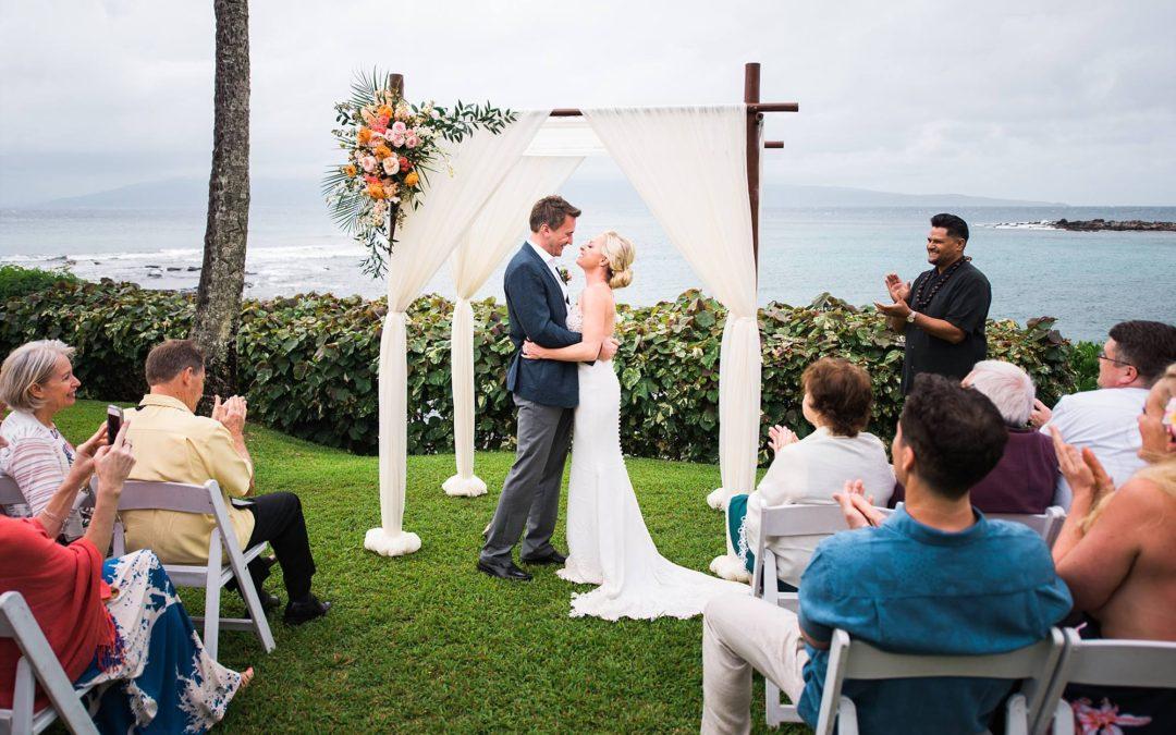 Intimate Wedding at Merriman's Kapalua   Amy + Rob