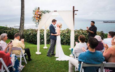 Intimate Wedding at Merriman's Kapalua | Amy + Rob