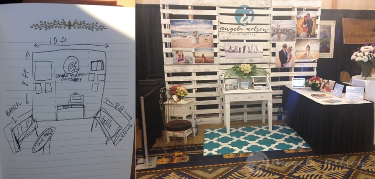 Creating A Pallet Wall For A Wedding Expo Photography Booth