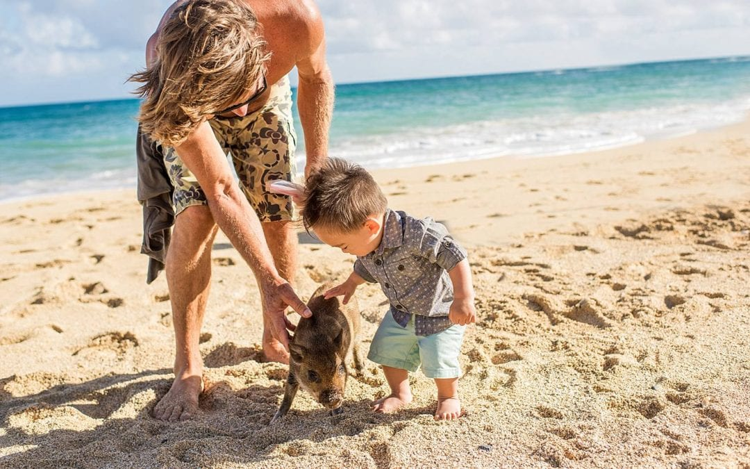 Morning Photos on the Beach in Maui | Kaedon + Fam