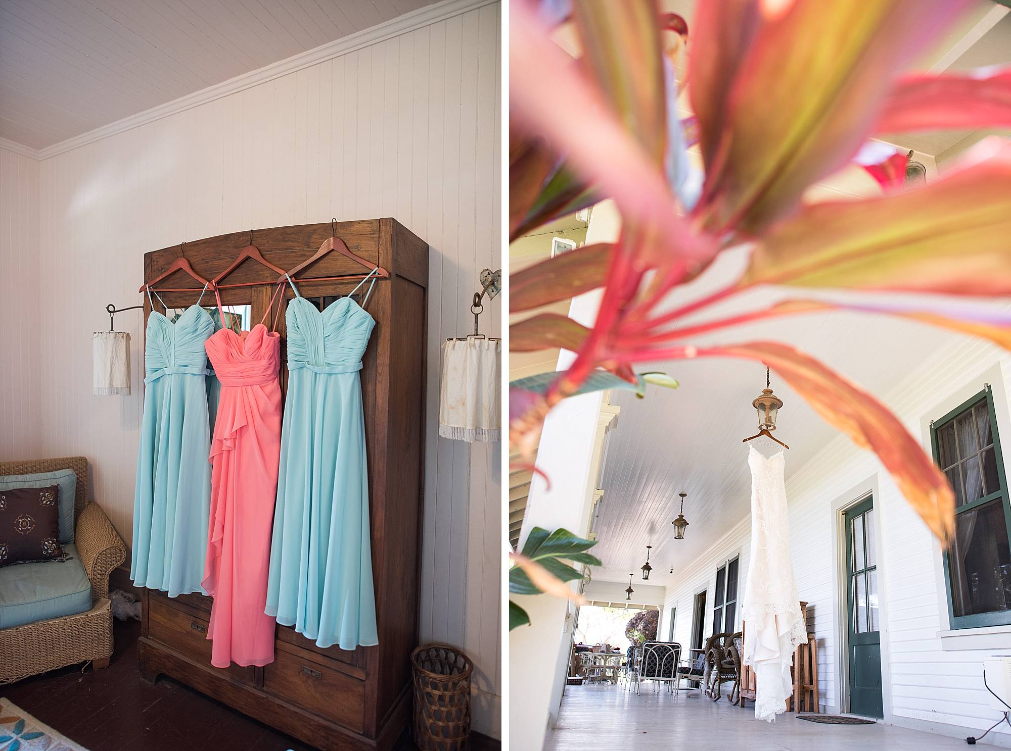 bridesmaids dresses at Olowalu