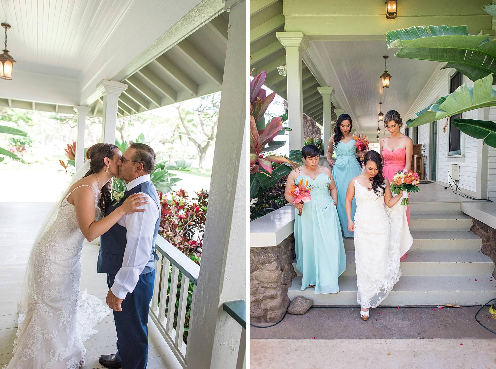olowalu plantation house bridal party