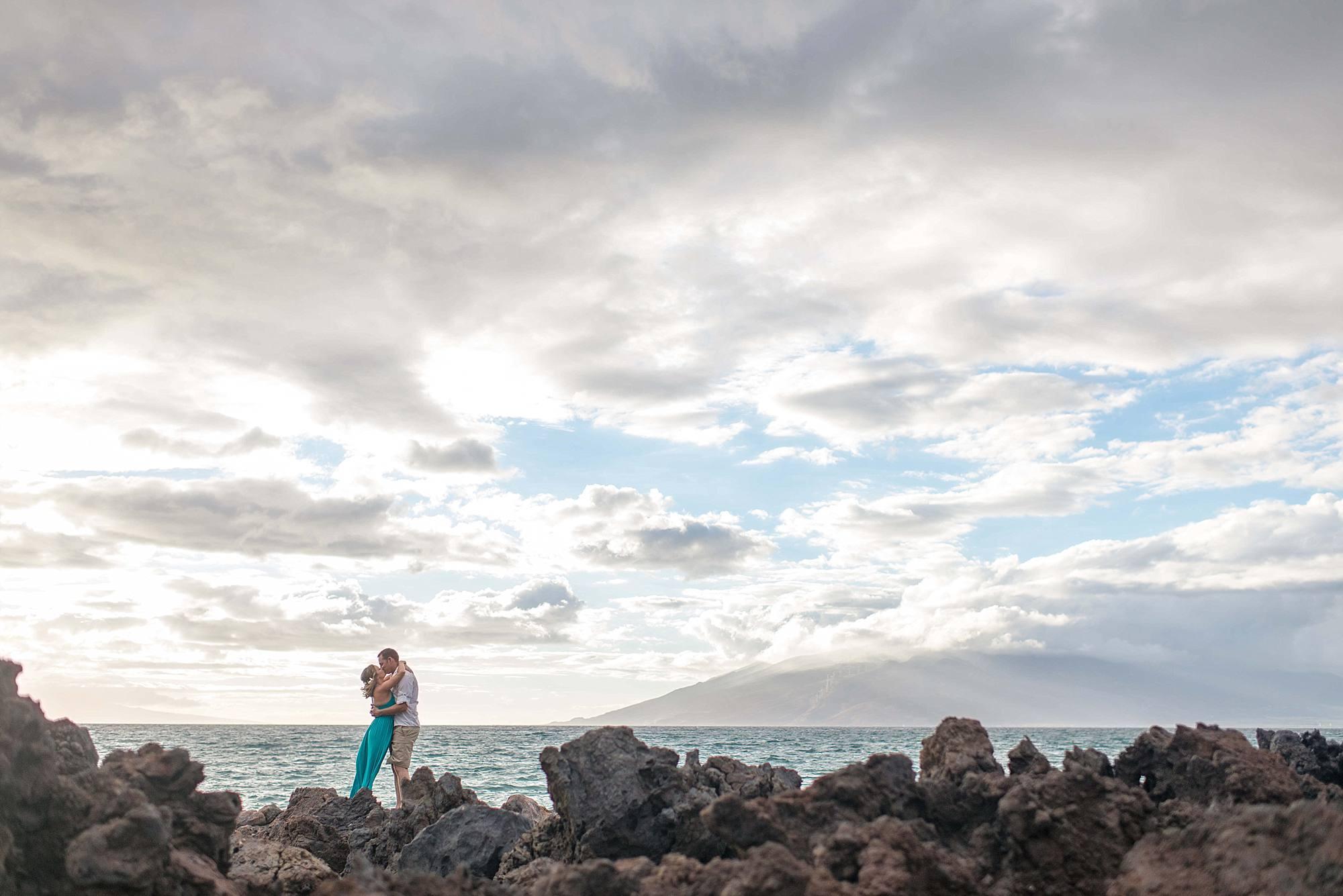 lava rock engagement photos
