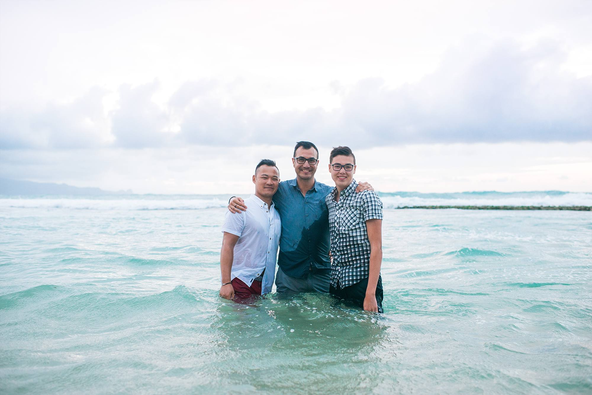 Three guys in the ocean!
