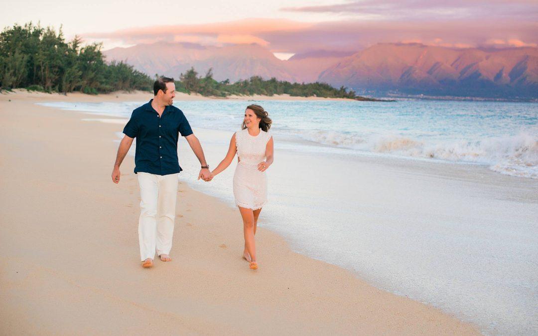 Sunrise Engagement Session on Maui's North Shore | Jamie + Michael