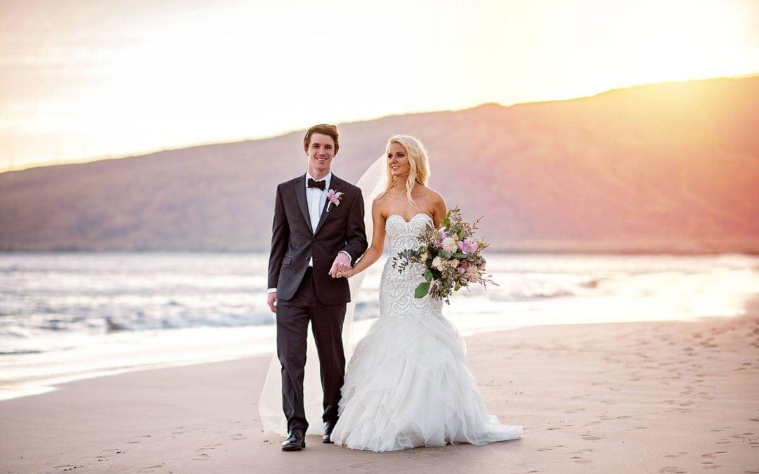 Luxurious Maui Wedding at Sugar Beach Events   Ross + Brianna