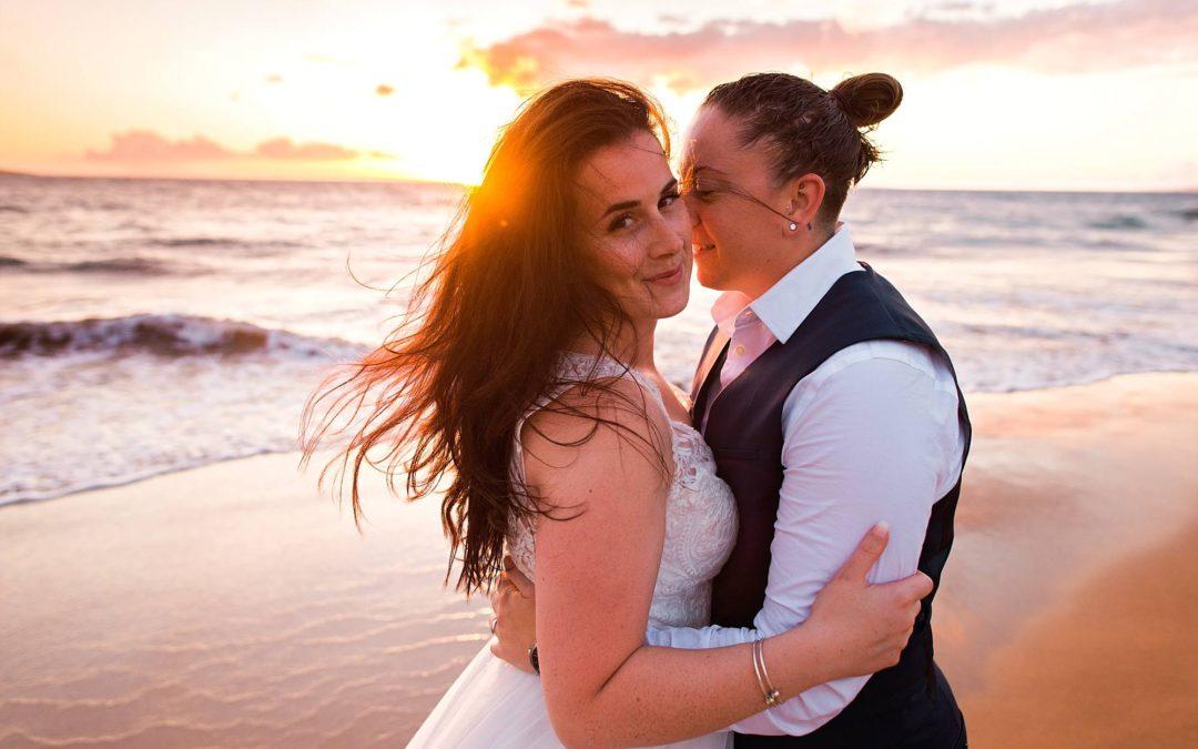 Honeymoon Portrait Session on Maui | Kayla + Lauren