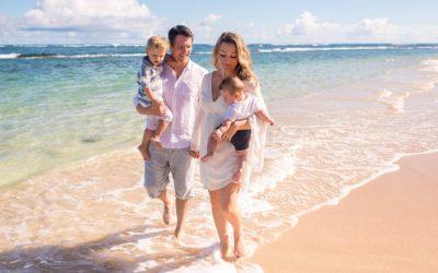 North Shore Maui Morning Family Photo Shoot | The J Family