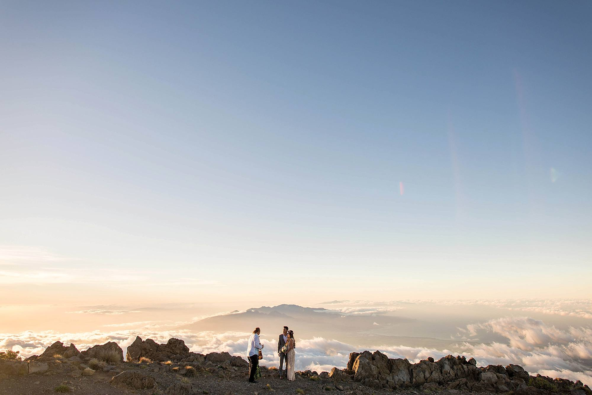 wedding on top of Haleakala