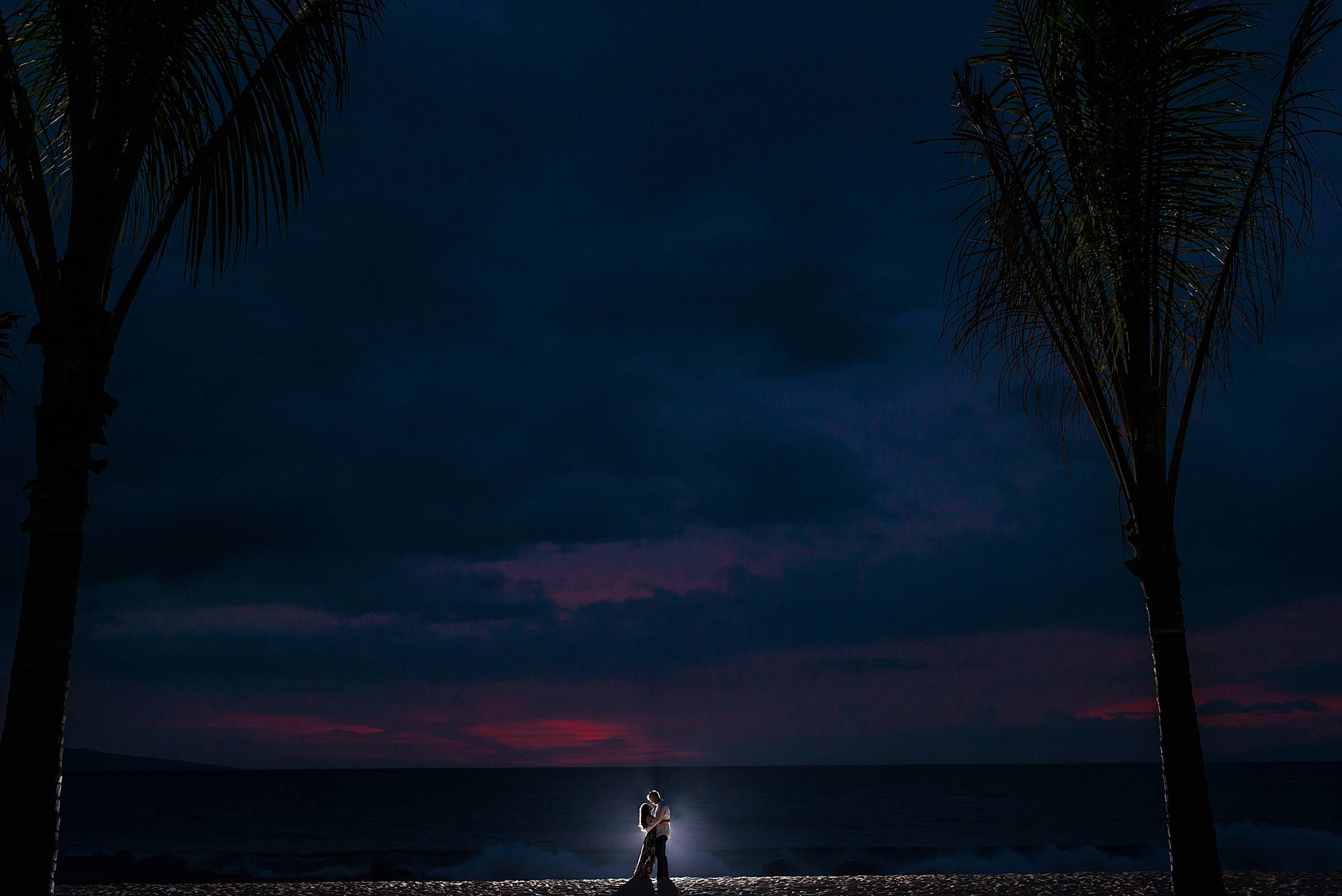 moody sunset photo in maui