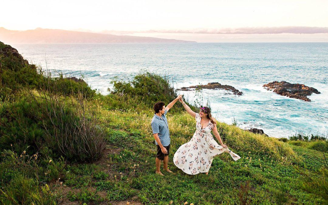 Adventurous Maui Engagement Session   Katie + Jasen