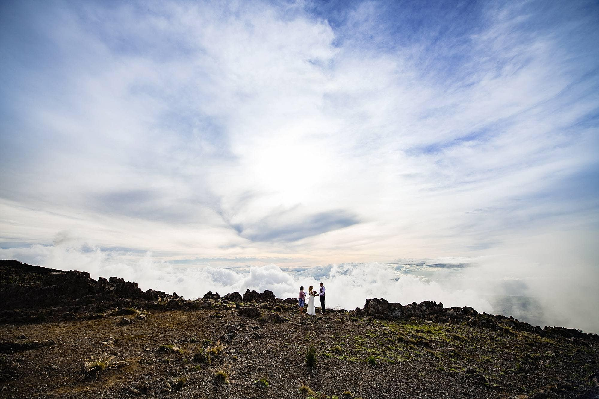 haleakala wedding at kalahaku overlook