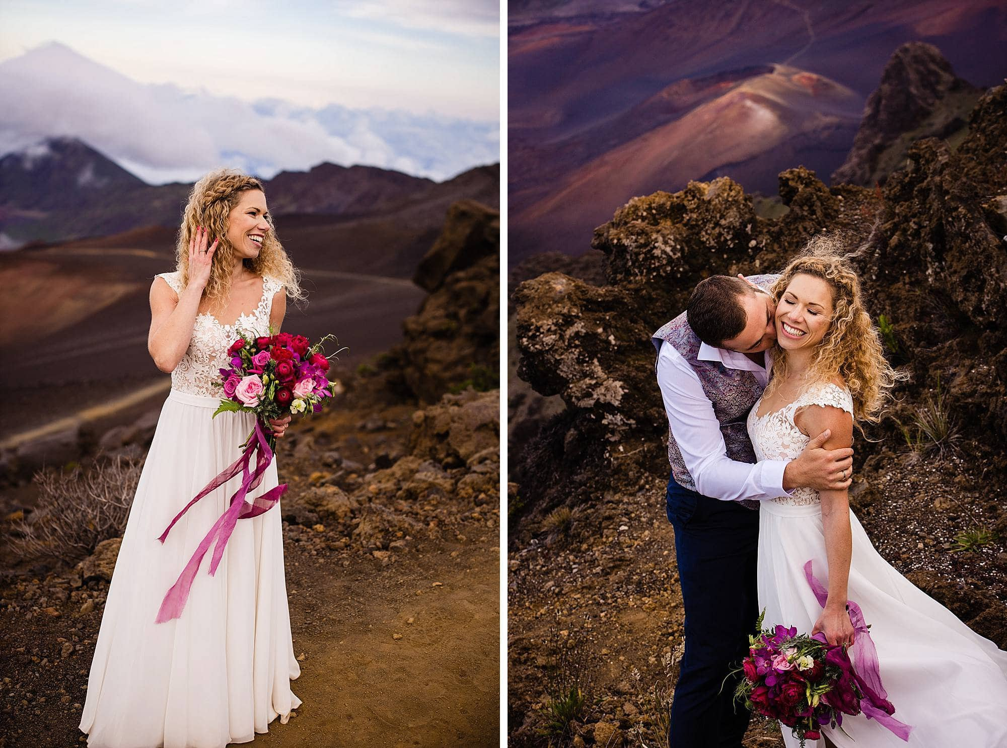 bridal portraits on Haleakala