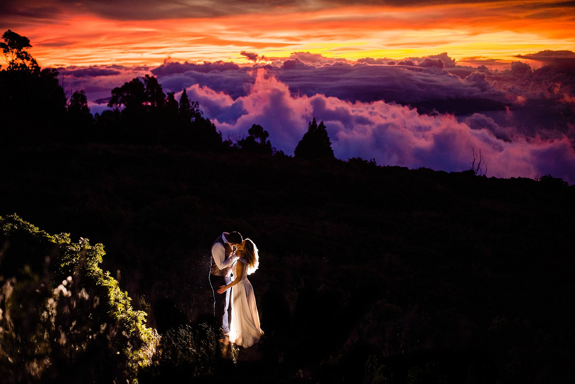 haleakala wedding sunset