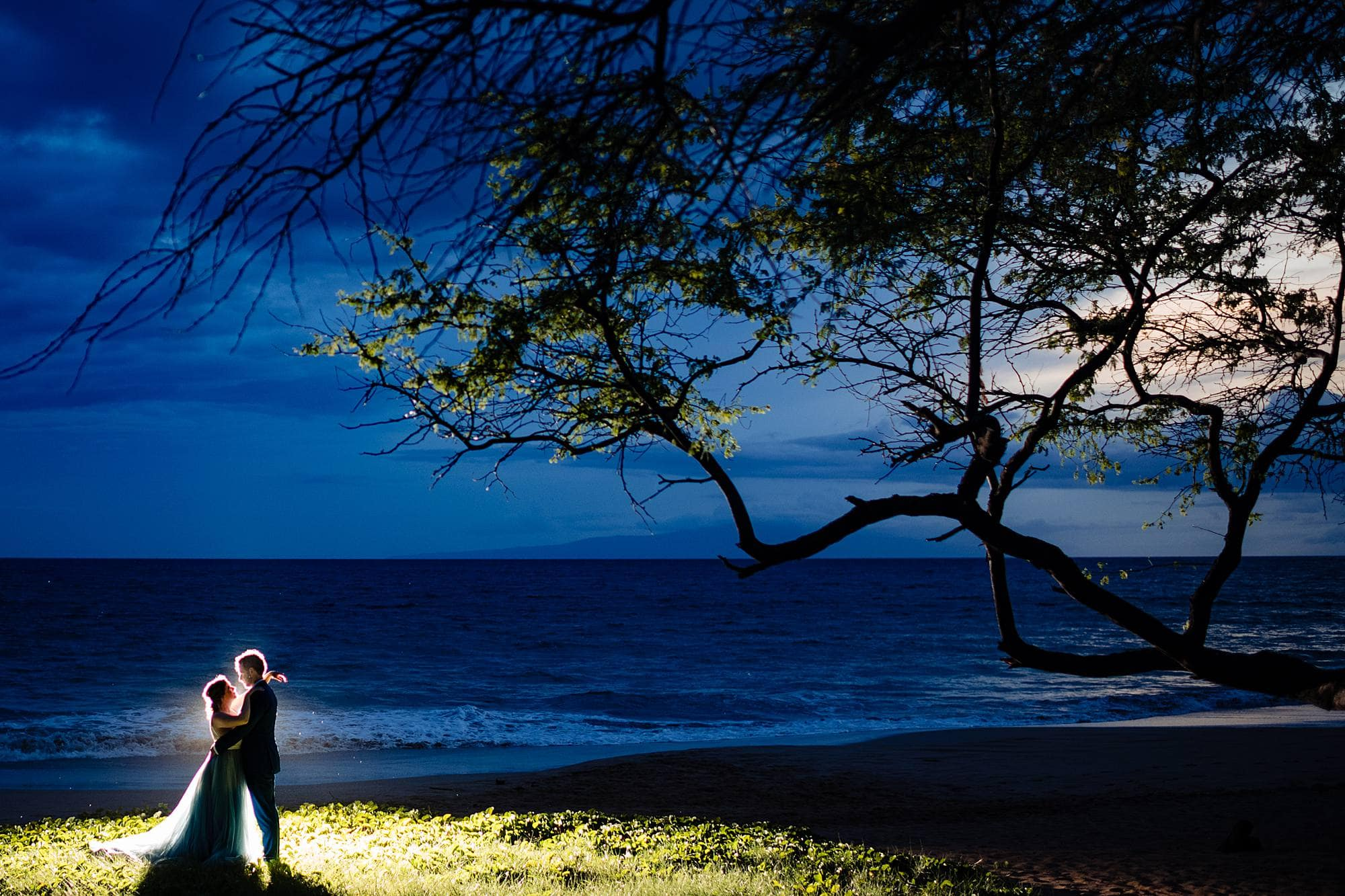 backlit portrait in maui, hawaii