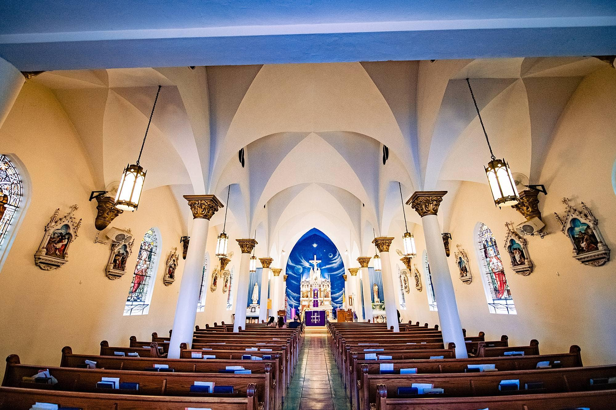 inside of st.joseph church in makawao