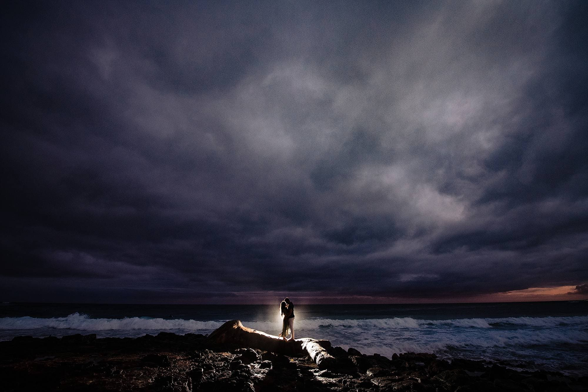 stormy kauai engagement photography