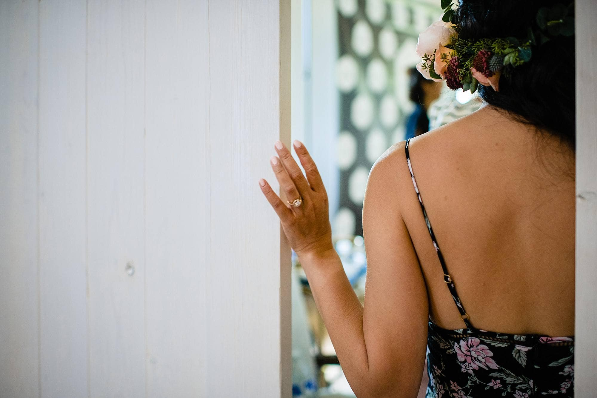 Bride getting read at Steeple House Kapalua
