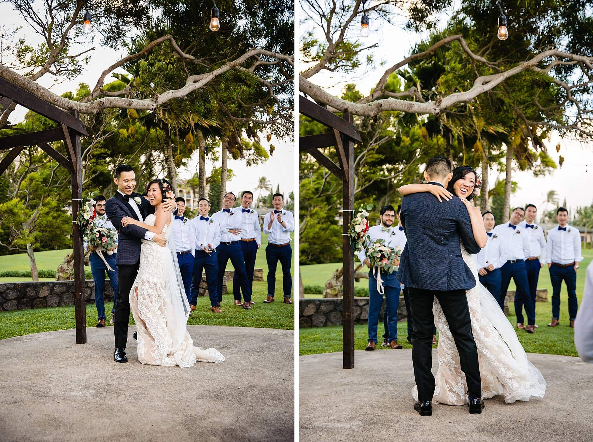 first dance at Steeple House Kapalua