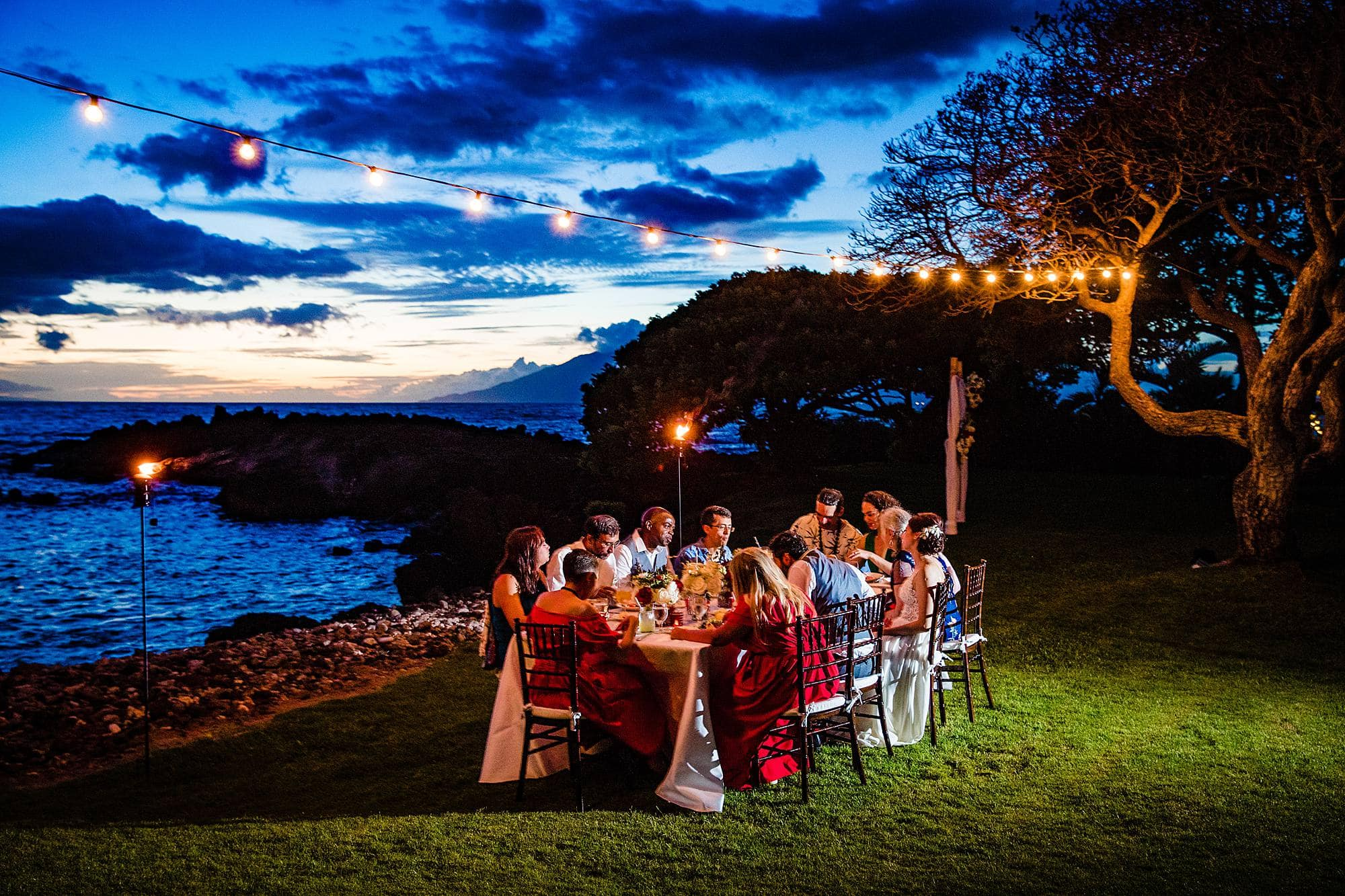 intimate dinner at kukahiko estate