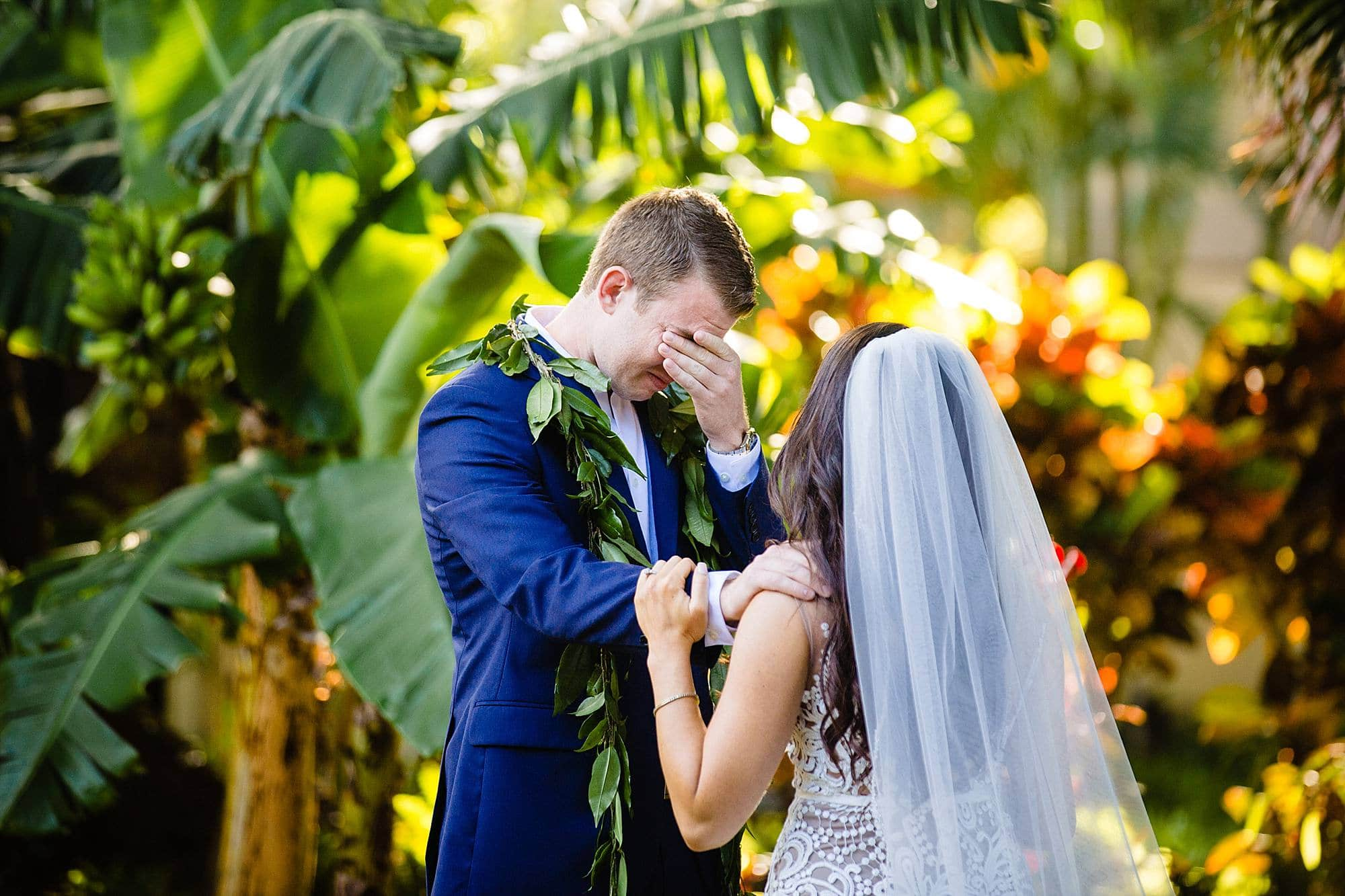 emotional groom at ritz carlton kapalua