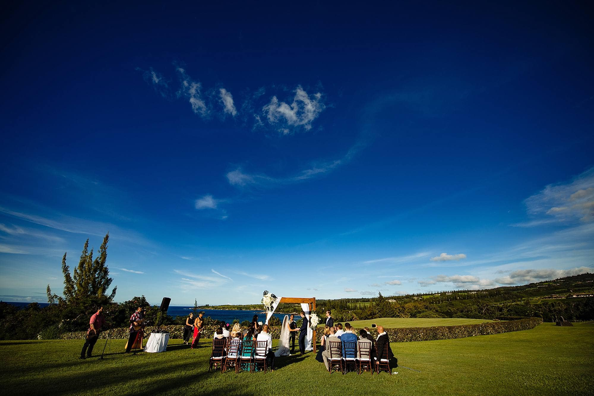 wedding at ritz carlton kapalua